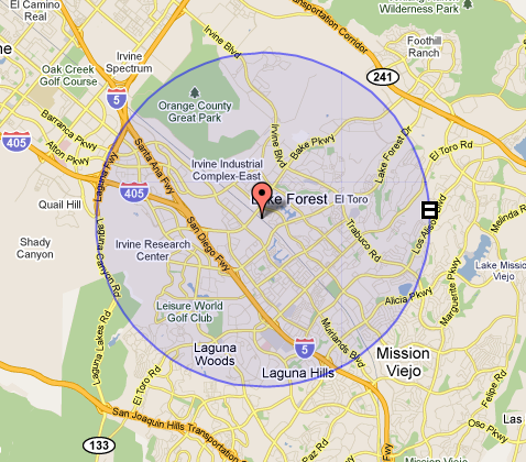 Drive Time Locations >> Mapping and Location Management